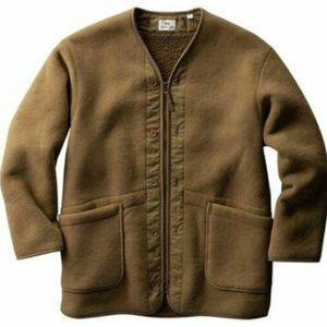 Uniqlo Engineered Garments Fleece Collarless Coat